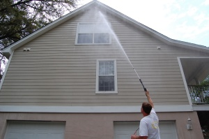 power washing the exterior