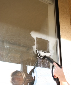 spring cleaning outdoor windows
