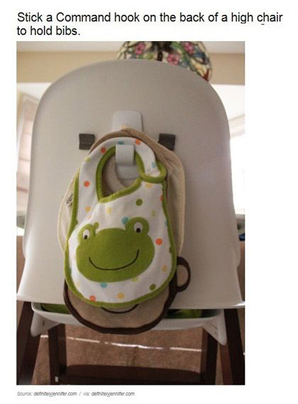 Image result for parenting hack bibs on high chair
