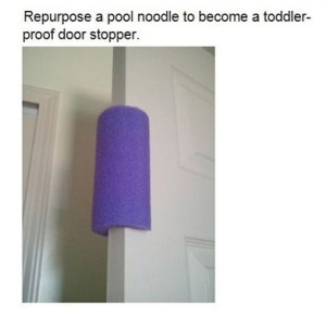 pool noodle door